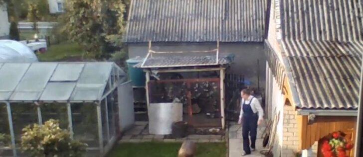 Vilkaviškietės slapta kamera nufilmavo siaubingą įrašą: vyras atidaro voljero vartus ir lazda daužo šunį