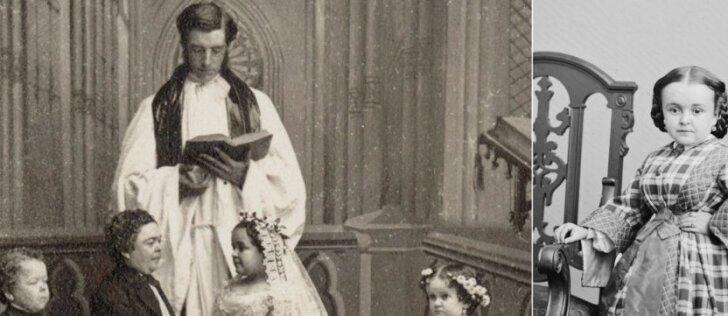 Neregėta puota karo metais. Kodėl į liliputų vestuves Niujorke atėjo 10 tūkst. svečių?