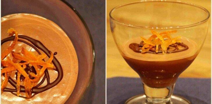 Šokoladinis desertas – mousse