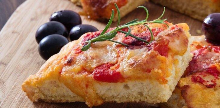 """Labai greitai pagaminama itališka duona """"Focaccia"""""""