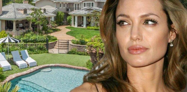 Kas slepiasi už prabangių Angelinos Jolie namų durų