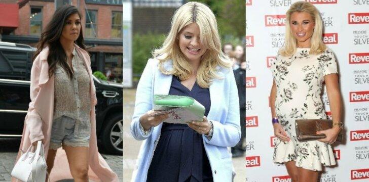 Kourtney Kardashian, Holly Willoughby,  Billie Faiers