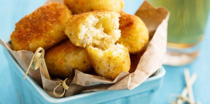 Traškūs bulvių ir vištienos kroketai