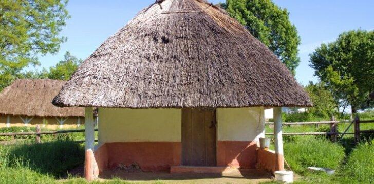Šiaudinis namas, šiaudinis stogas