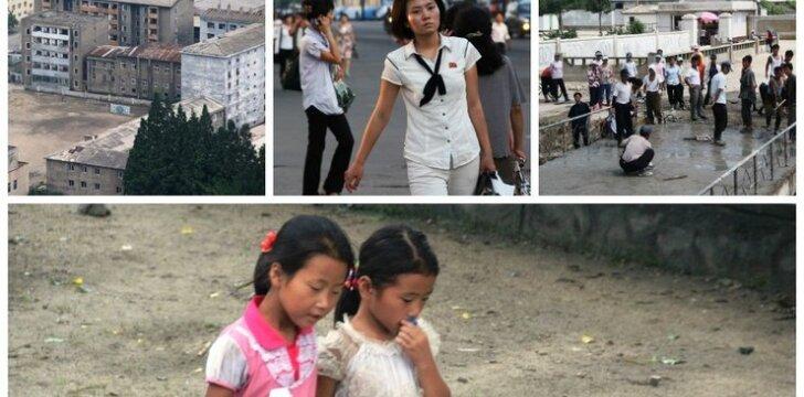 Šiaurės korėjiečiai Pchenjano gatvėse