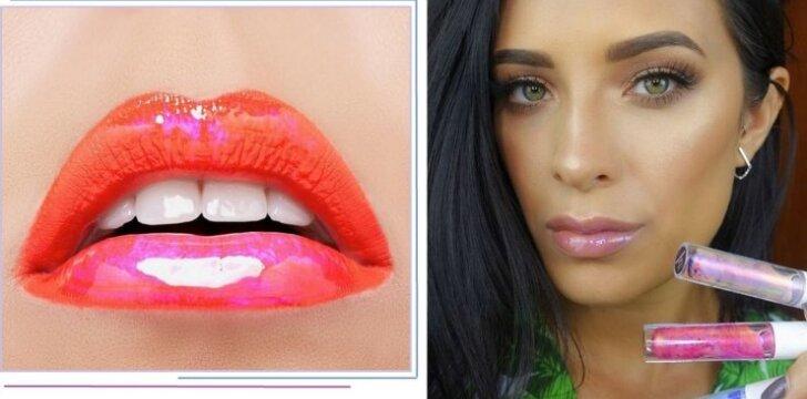 Įspūdingai atrodantys holograminiai lūpų blizgiai