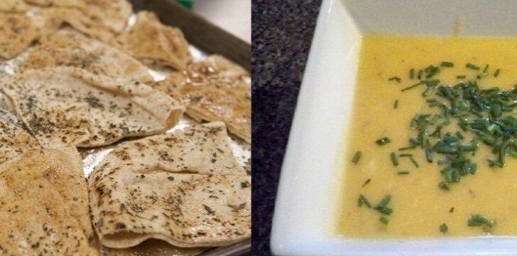 Tiršta sūrio sriuba su tortilijomis