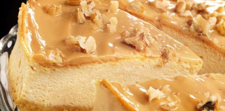 Karamelinis sūrio pyragas