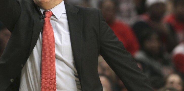 """Bulls"" treneris Tomas Thibodeau"