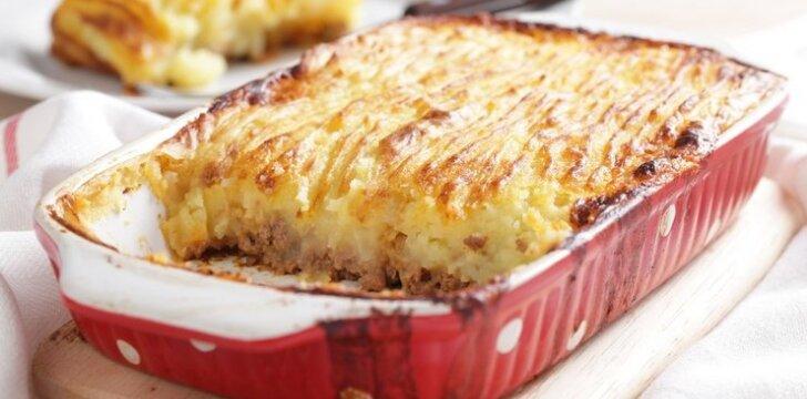 Sotus mėsos ir bulvių apkepas