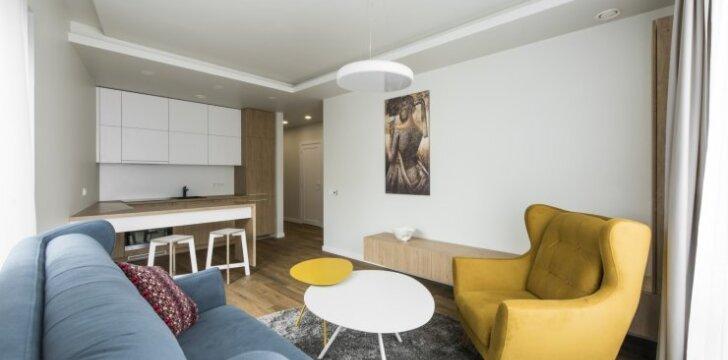 64 kv.m butas Vilniuje: maksimalios erdvės siekis nedideliame plote