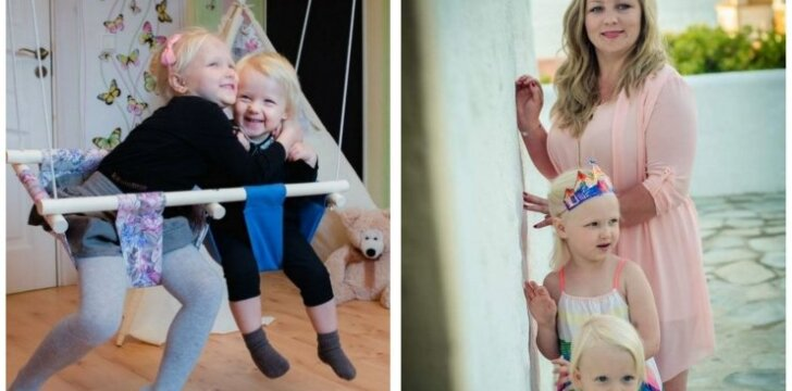 Dviejų dukryčių mama Inga: poreikis kurti atsirado tapus mama