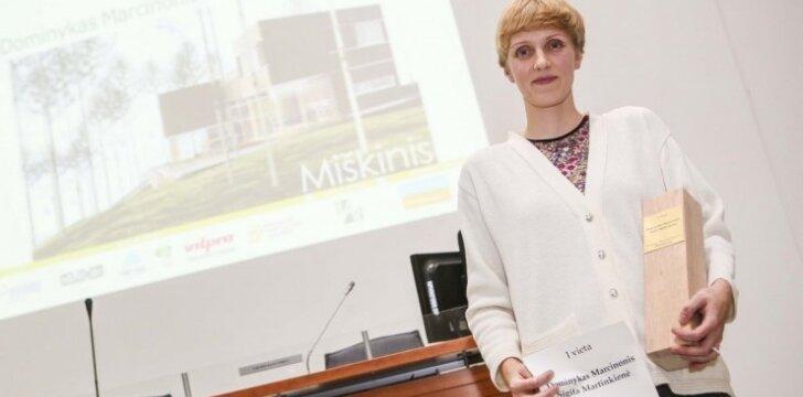 Sigita Martinkienė - pirmąją vietą konkurse pelniusi architektė
