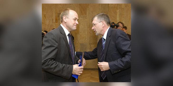 Treneris A. Paulauskas ir premjeras G. Kirkilas