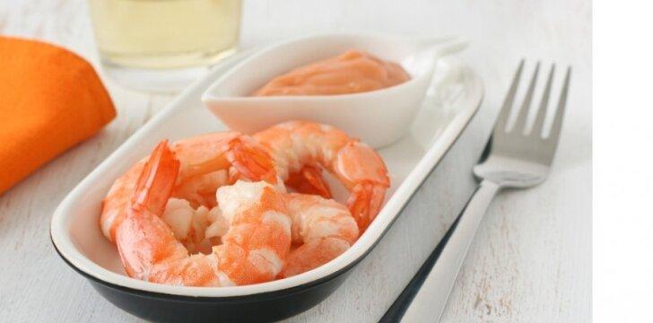 Krevetės - mažai kalorijų turintis delikatesas.