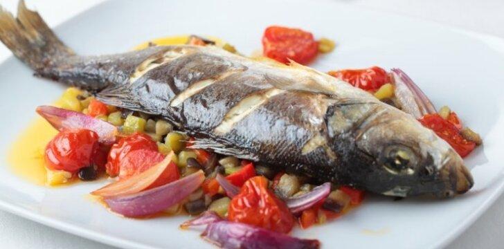 Aštriai kepta žuvis
