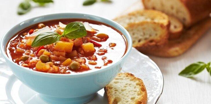 Itališka daržovių sriuba Minestrone