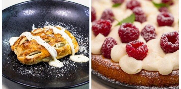 Savaitgalio receptai: sluoksniuotos tešlos pyragėliai ir marcipaninis pyragas