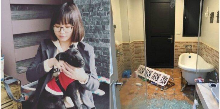 Šuo perspėjo šeimininkę dėl žemės drebėjimo