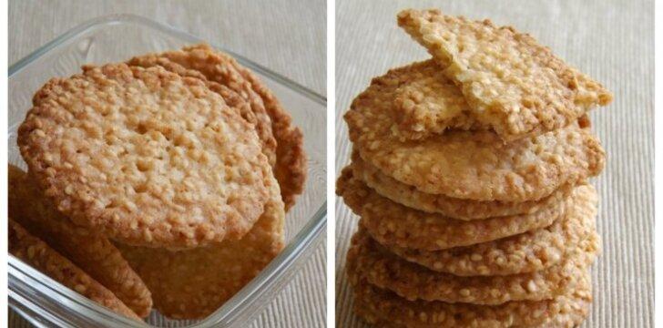 Traškieji sezamų sausainiai