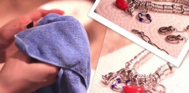 Gudrybė: kaip išvalyti sidabro papuošalus per 5 minutes