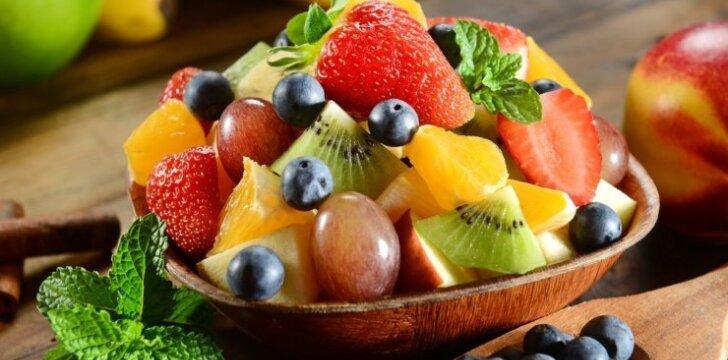 Vynuogių ir melionų salotos su sūriu