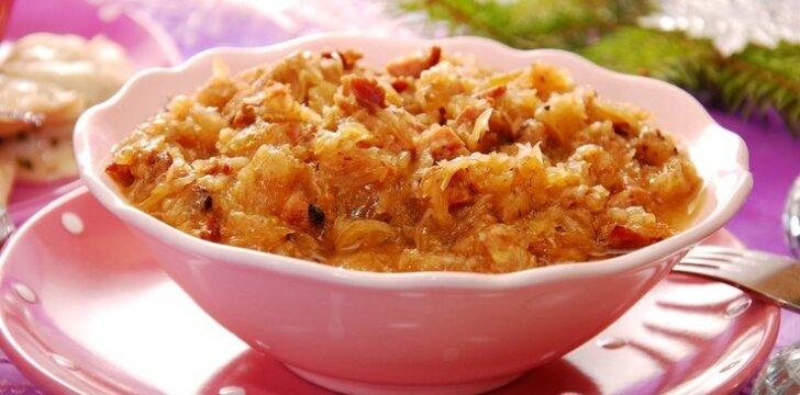 Kopūstų ir grybų salotos