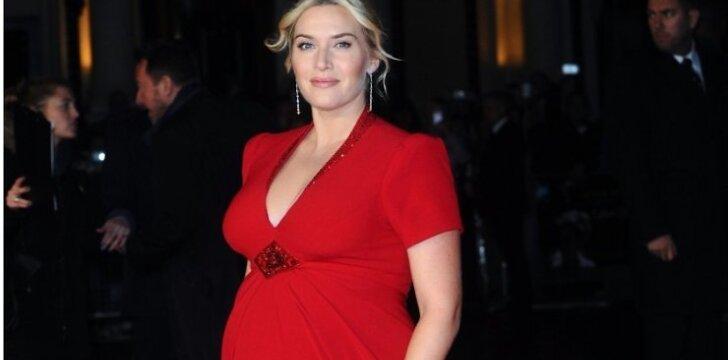 Nėščia Kate Winslet kopijuoja karališkąjį Kate Middleton stilių
