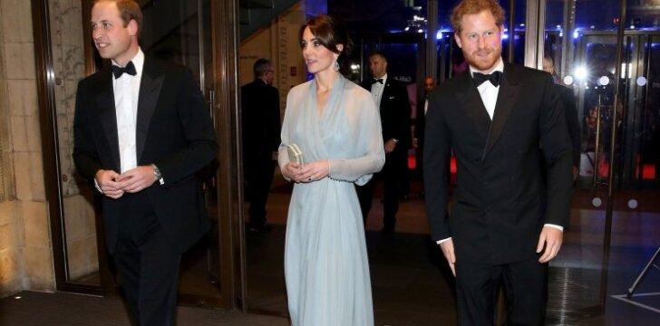 Kate Middleton, princai Williamas ir Harry