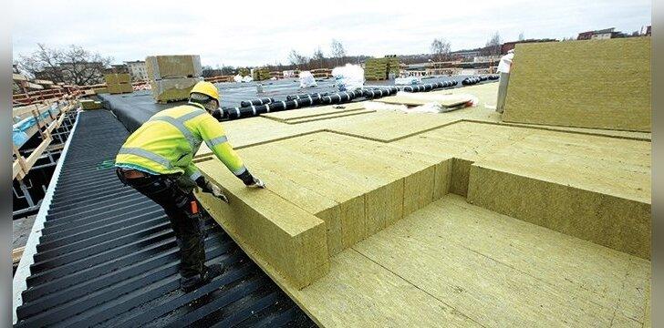 Dvigubai mažesni šilumos nuostoliai pasiekiami apšiltinus stogą