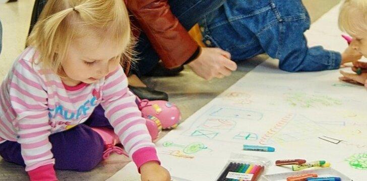 Interjero dizaino diena mažiesiems Kauną papuošė vaikų šypsenomis