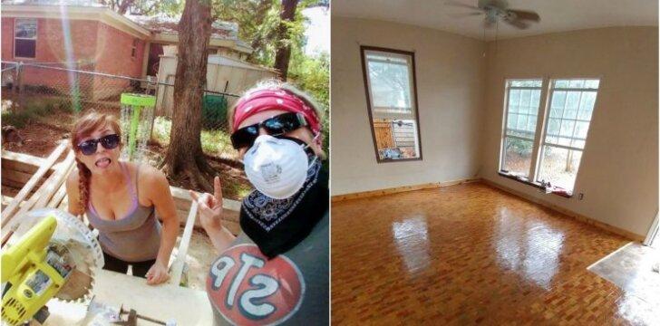 """<span style=""""color: #ff0000;"""">Darau pats:</span> grindys iš 2,5 tūkst. mažyčių medienos gabalėlių"""