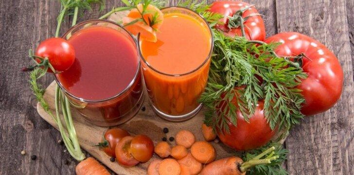 Morkų ir pomidorų sultys