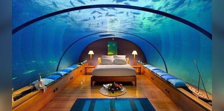 Viešbučio kambarys po vandeniu