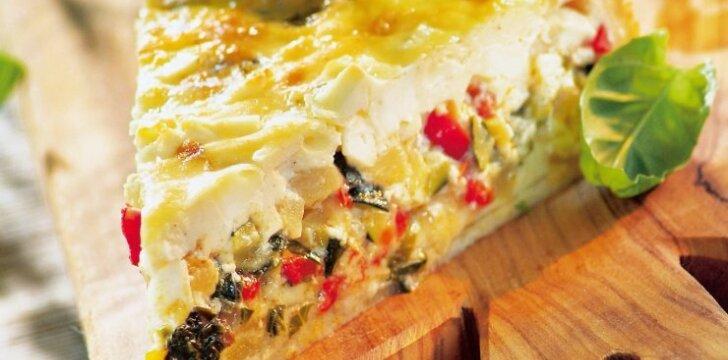 Sultingas daržovių ir sūrio apkepas