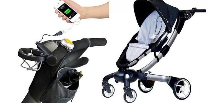 Kaip atrodo išmaniausias pasaulyje vaikų vežimėlis