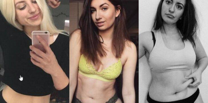 """Netobulumus demonstruojančios merginos: """"Mums gražus kiekvienas kūno centimetras"""""""
