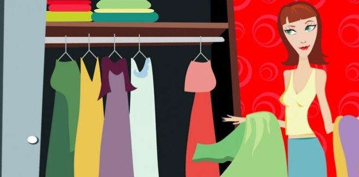 Ar jums TIKRAI reikia visų jūsų drabužių?