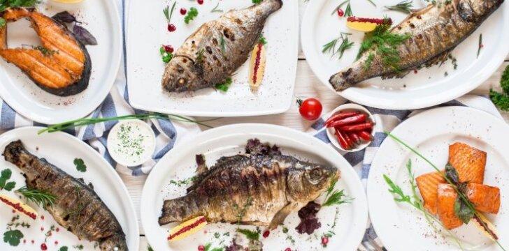 Žuvies patiekalai – greitai paruošiami, sveiki ir lengvi virškinami