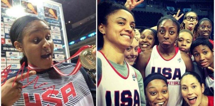Maya Moore ir JAV moterų krepšinio rinktinė (DELFI montažas)