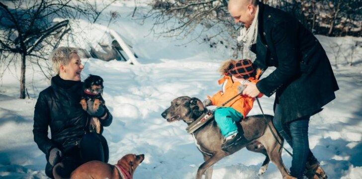 Dizaineris R. Kalinkinas: šunys pasirinko mūsų šeimą, o ne mes šunis
