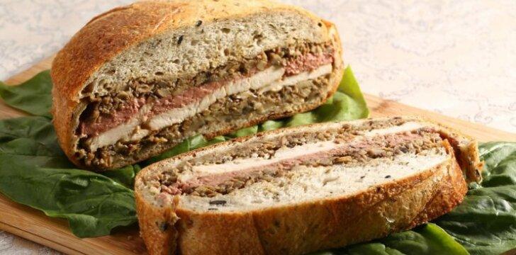 Įdarytos duonos sumuštiniai