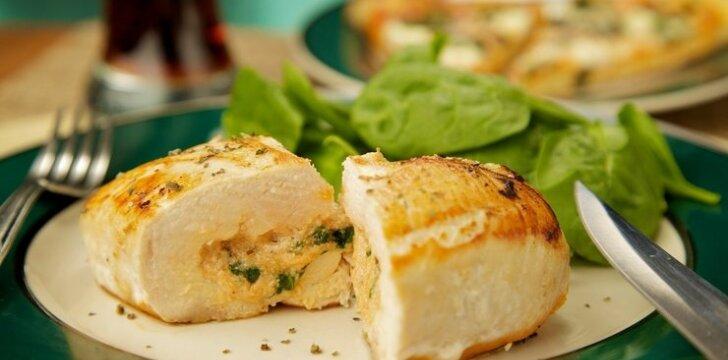 Vištienos filė su brie sūriu