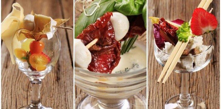 IDĖJA: sūrio užkandėlės taurėse (foto)