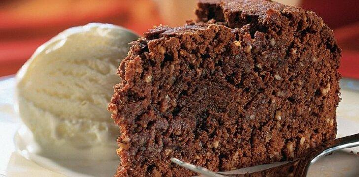 Šokoladinis riešutų pyragas