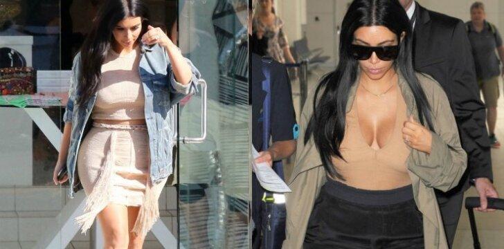 Kim Kardashian stilius: ar padoru taip atrodyti besilaukiančiai?