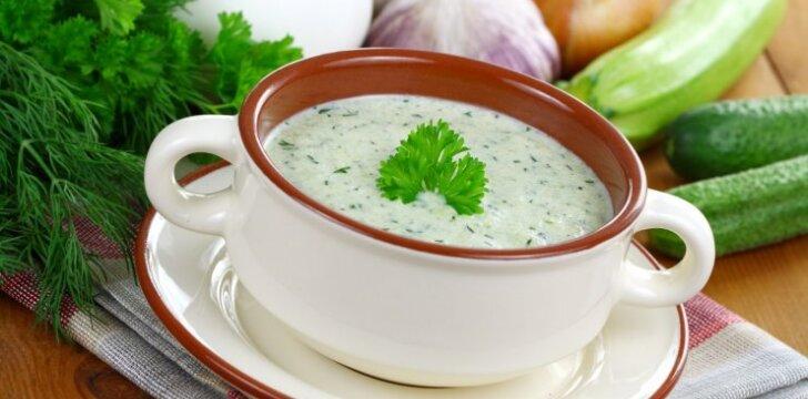Šalta cukinijų sriuba