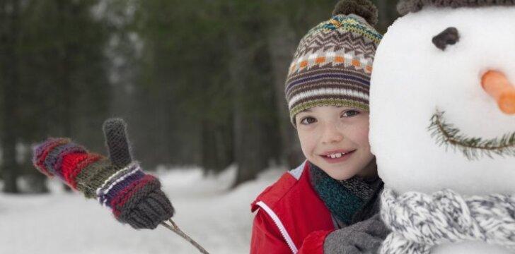 Ar eiti su vaiku į lauką per šalčius ir kaip prižiūrėti jo odą