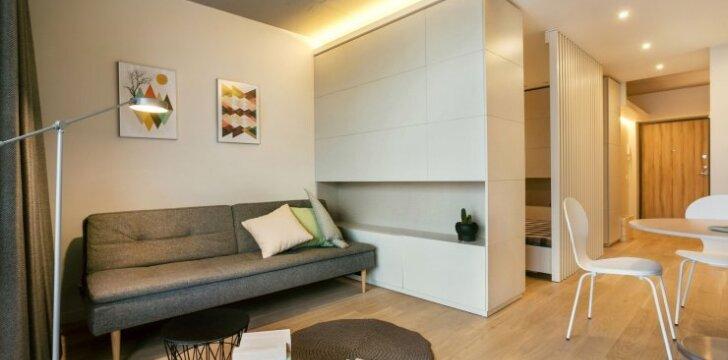 37 kv.m butas Vilniuje: nedidelėje erdvėje atsiskleidė dizainerės fantazija