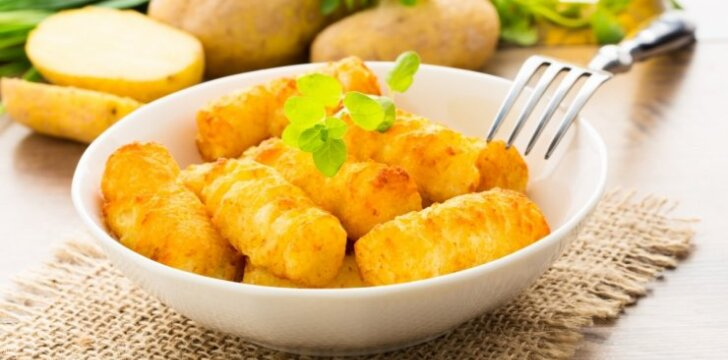 Traškūs bulvių kroketai